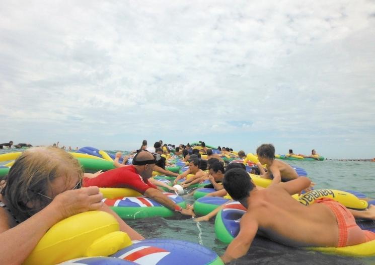 Personnes sur l'eau lors de Australia Day