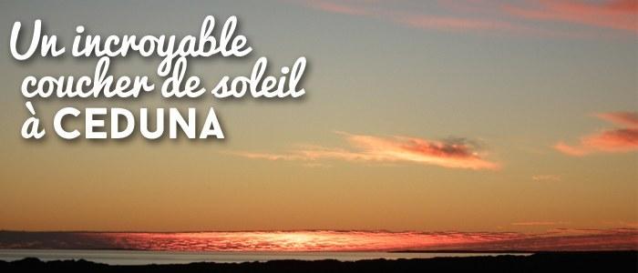 Un incroyable coucher de soleil à Ceduna