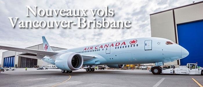 Air Canada offrira des vols Vancouver-Brisbane