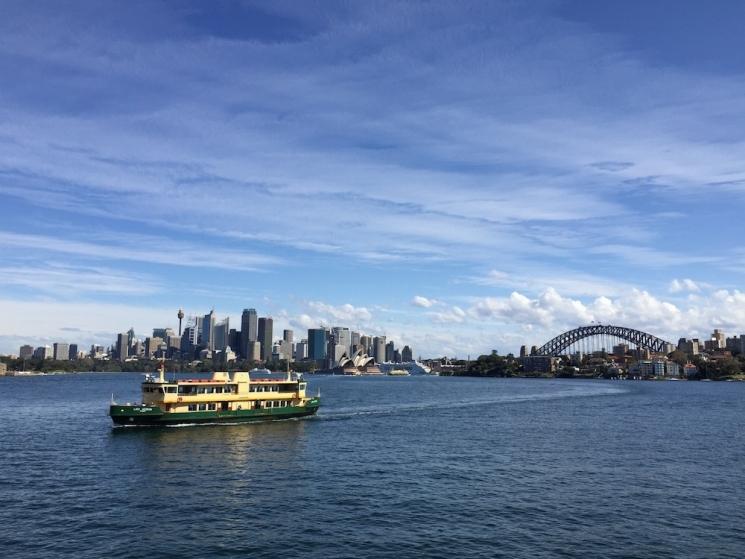 Ferry dans le Harbour de Sydney