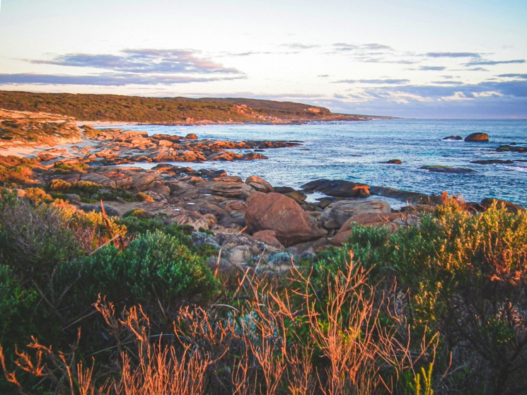 Coucher de soleil à Redgate, Western Australia