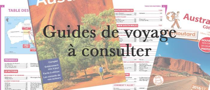 Guides de voyage à consulter