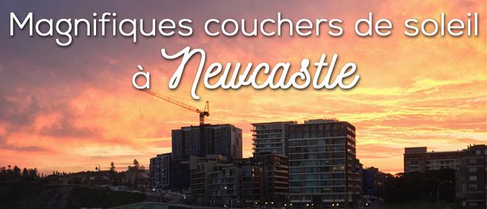 Magnifiques couchers de soleil à Newcastle