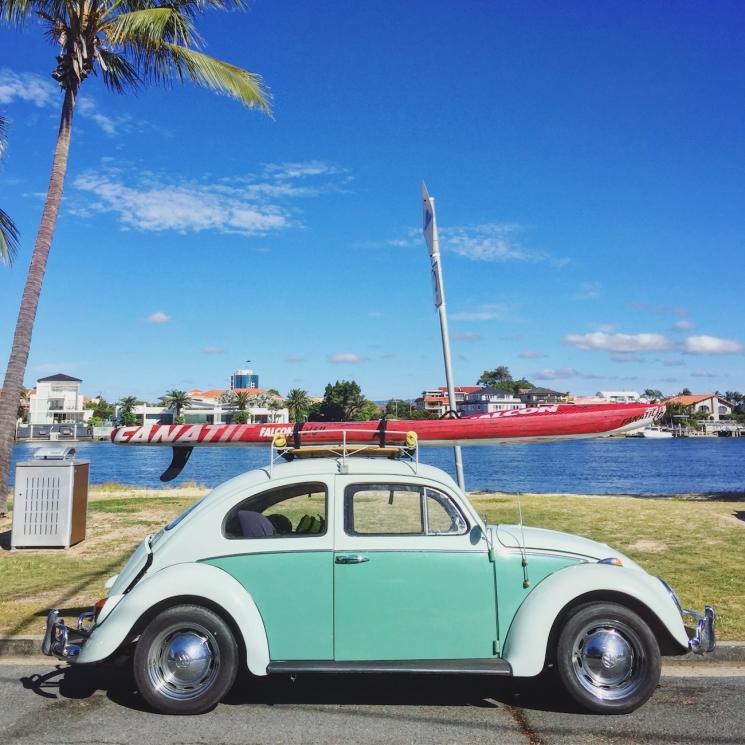 Photo Instagram d'une voiture à Surfers Paradise
