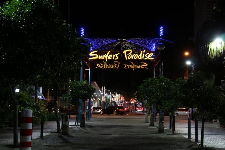 Le centre-ville de Surfers Paradise