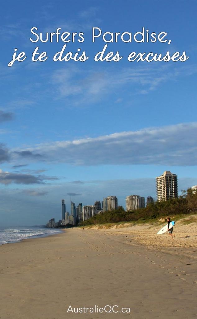 Image pour Pinterest : Surfers Paradise
