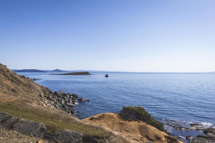 Vue à Maria Island, Tasmanie