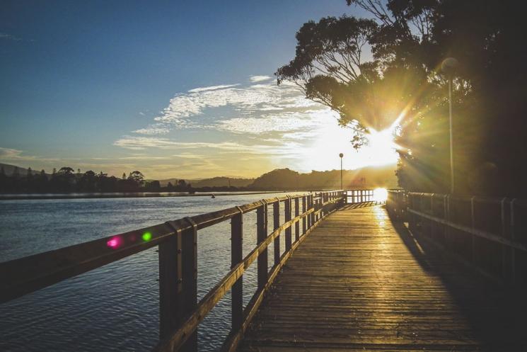 Coucher de soleil à Narooma