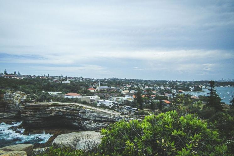 Vue du Gap Park dans les Eastern Suburbs de Sydney
