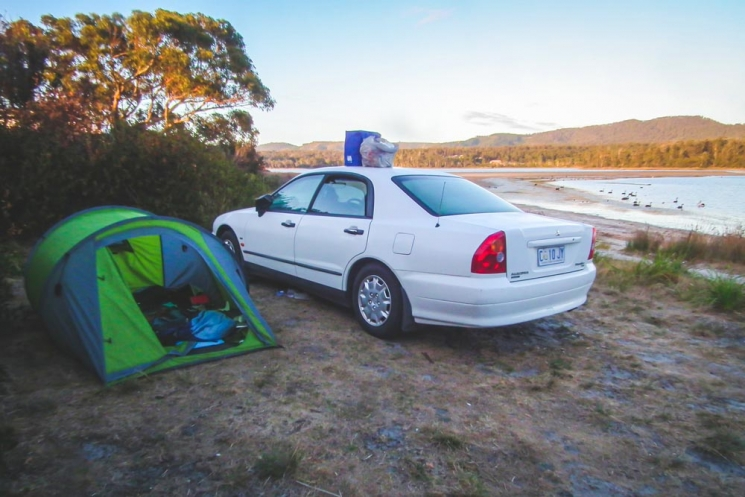 Nourriture mal rangée en camping