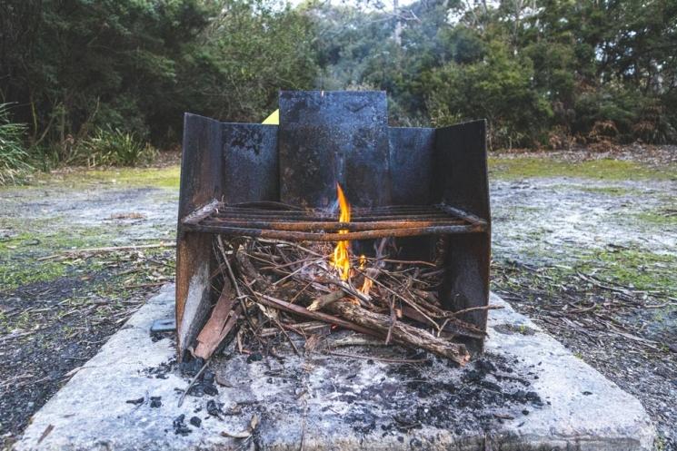 Feu au camping Black River