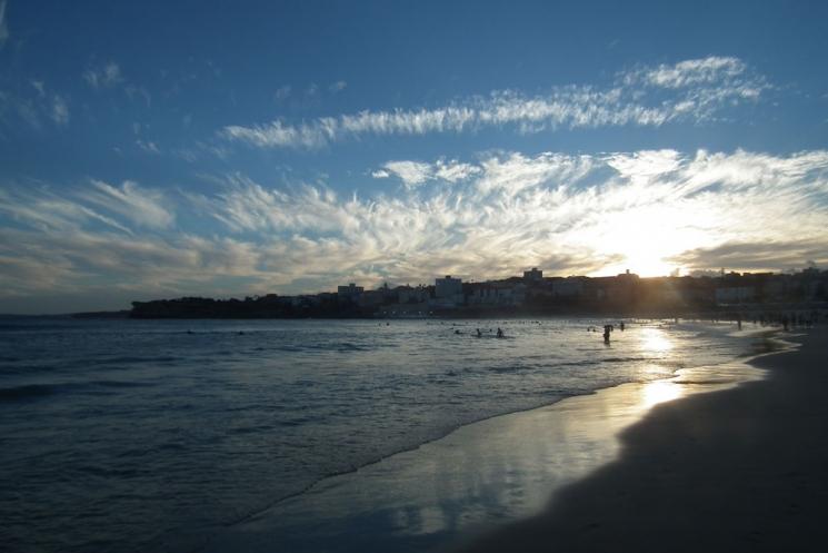 Bondi Beach au coucher du soleil