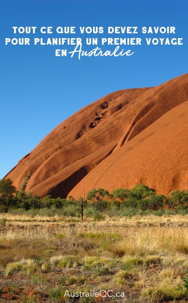 Image pour Pinterest : voyage australie